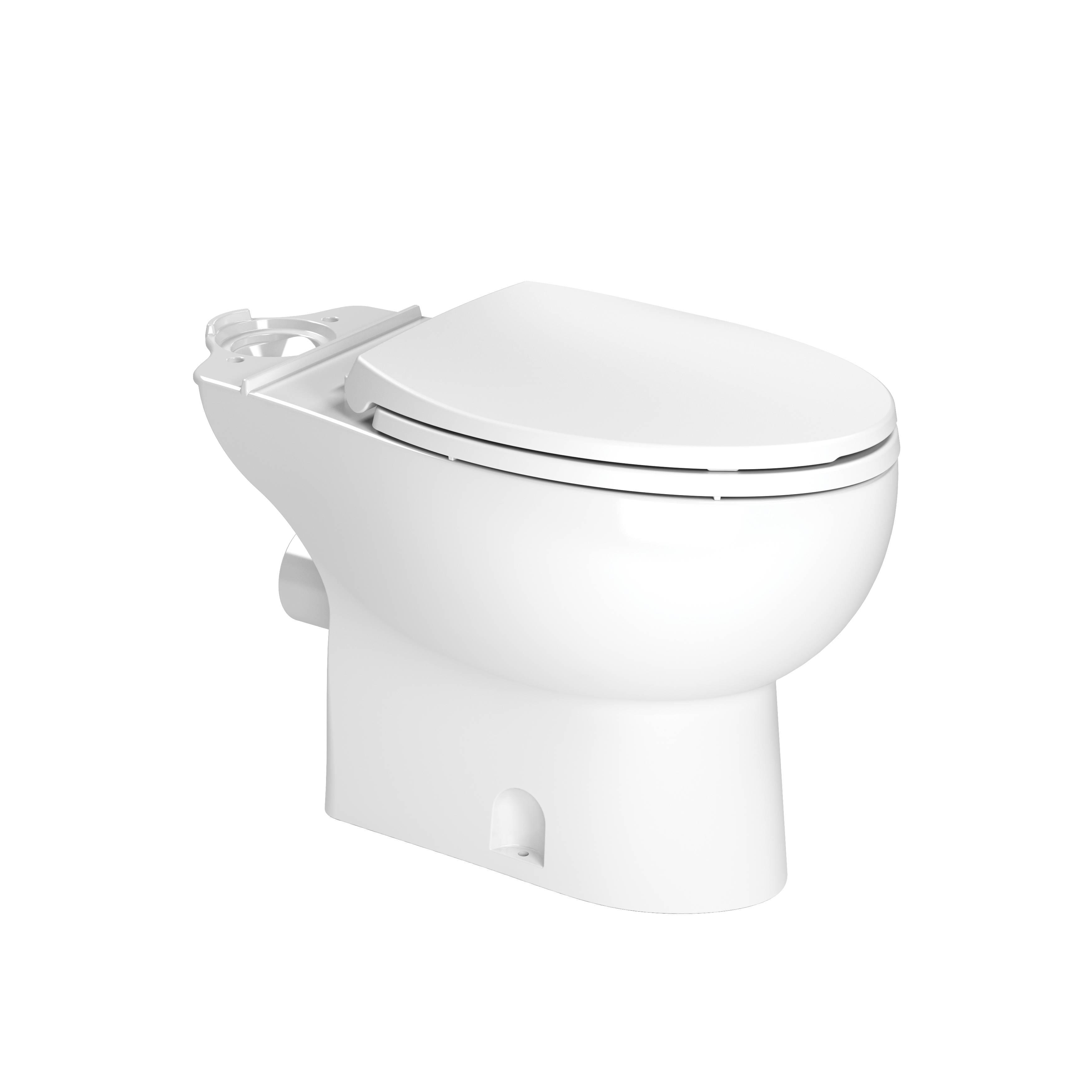 Saniflo® 087 Toilet Bowl, White, Elongated Front Shape, 16-3/4 in H Rim, 3 in Trapway
