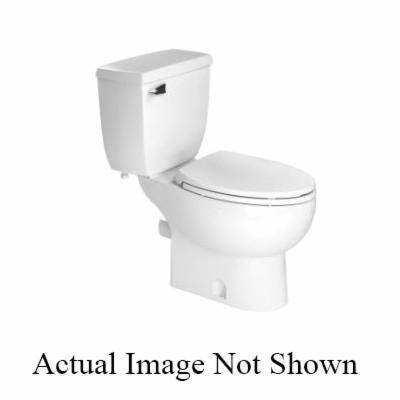 Saniflo® Saniflush® 087 Toilet Bowl, White, Elongated Front, 3 in Trapway