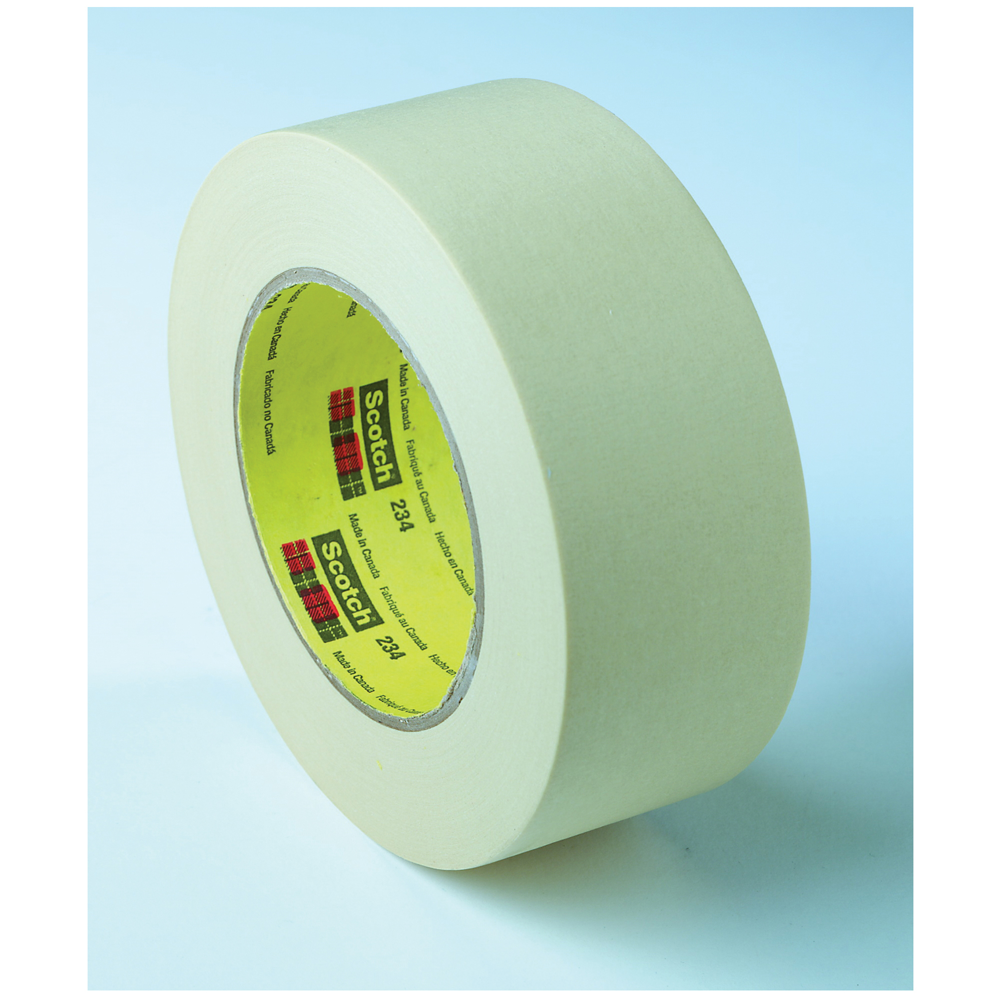 3M™ 021200-03771 483 Chemical-Resistant General Purpose UV-Resistant Masking Tape, 36 yd L x 1 in W, 5 mil THK, Rubber Adhesive, 3.9 mil Polyethylene Backing