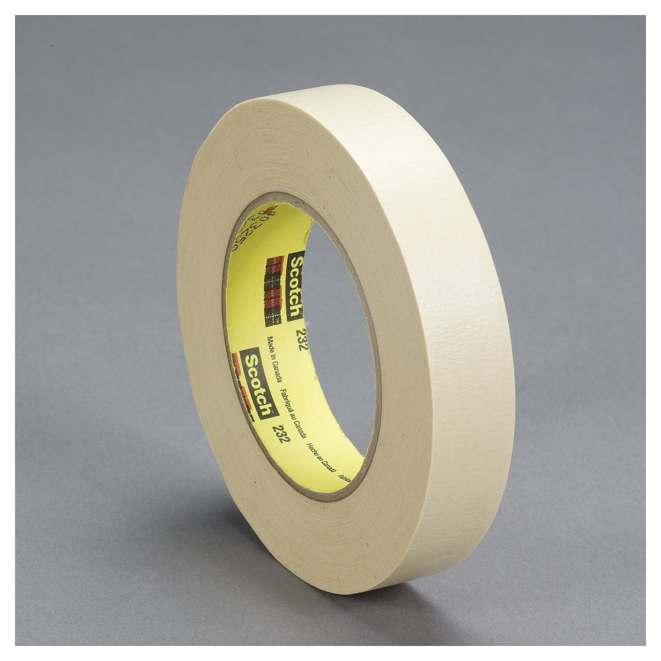 Scotch® 021200-71134 Masking Tape, 55 m L x 48 mm W, 0.001 in THK, Rubber Adhesive, Crepe Paper Backing
