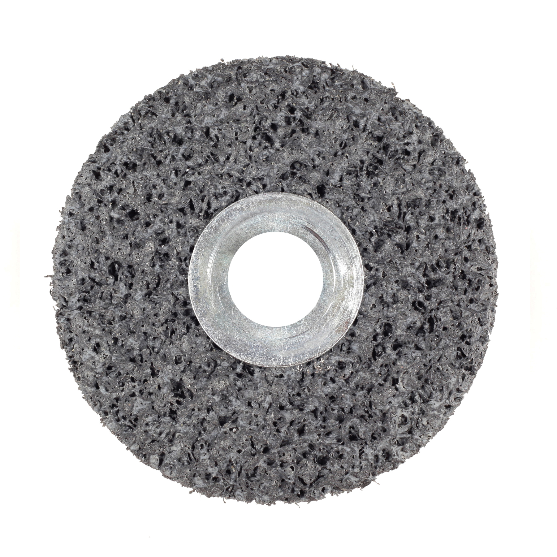 Scotch-Brite™ 048011-01009 CS-UW Clean and Strip Unitized Wheel, 3 in Dia Wheel, 1/4 in Center Hole, 1/2 in W Face, Extra Coarse Grade, Silicon Carbide Abrasive