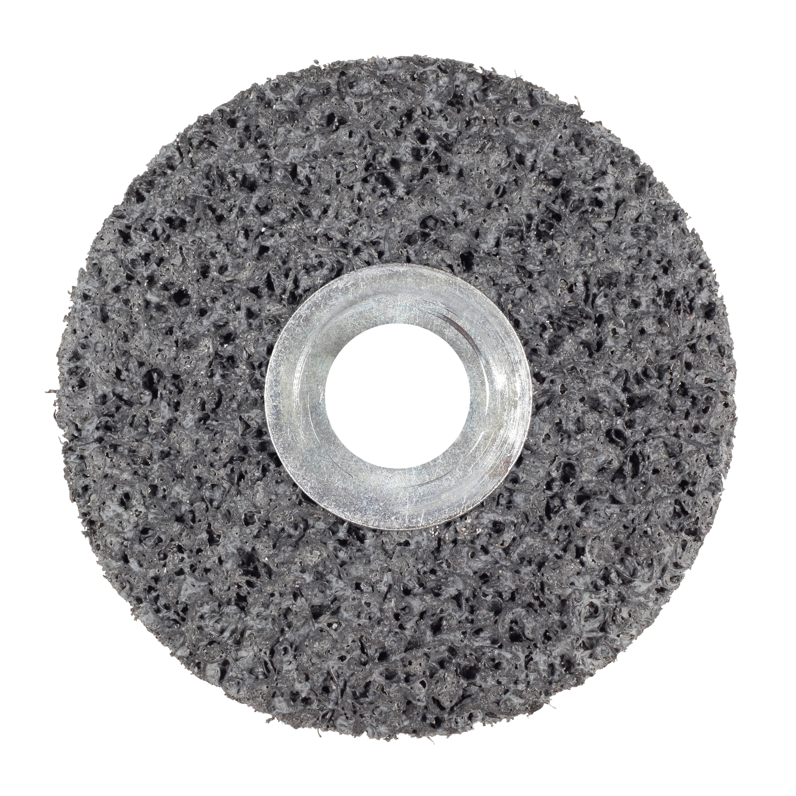Scotch-Brite™ 048011-01012 CS-UW Clean and Strip Unitized Wheel, 3 in Dia Wheel, 1/4 in Center Hole, 1 in W Face, Extra Coarse Grade, Silicon Carbide Abrasive