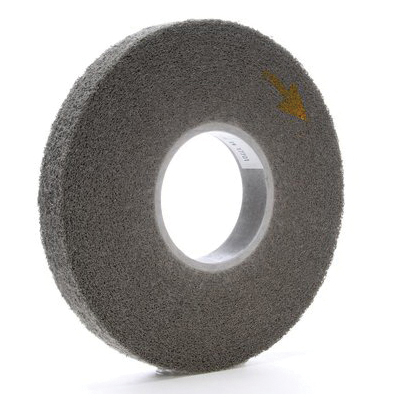 Scotch-Brite™ 048011-01565 CP-UW Cut and Polish Unitized Wheel, 3 in Dia Wheel, 1/4 in Center Hole, 1/2 in W Face, Fine Grade, Aluminum Oxide Abrasive