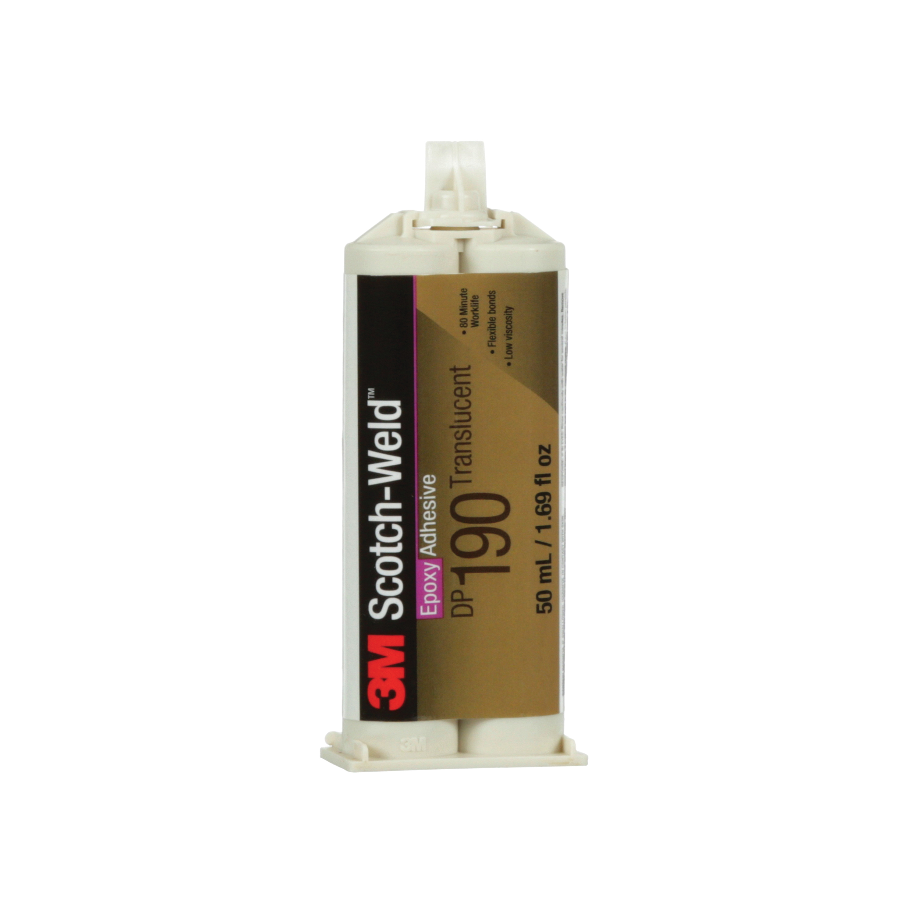 Scotch-Weld™ 021200-82470 Epoxy Adhesive, 50 mL Cartridge, Gray, 48 hr at 72 deg F Curing