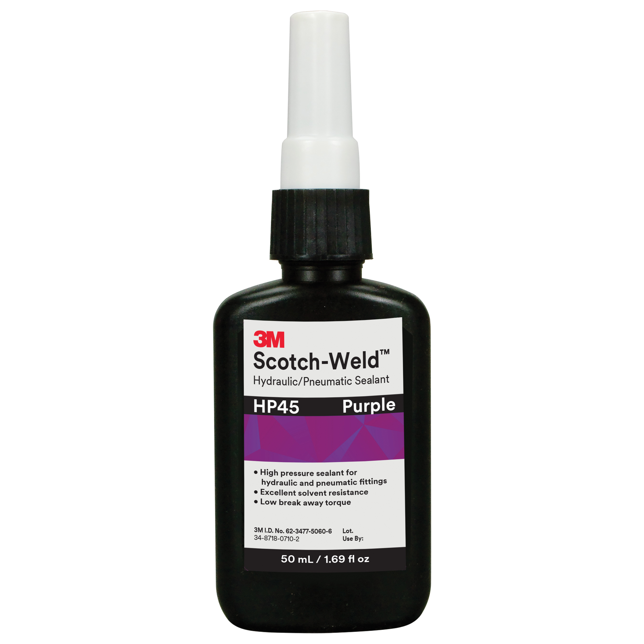 Scotch-Weld™ 048011-62613 Anaerobic Adhesive High Strength Threadlocker, 50 mL Bottle, Thixotropic Liquid Form, Red
