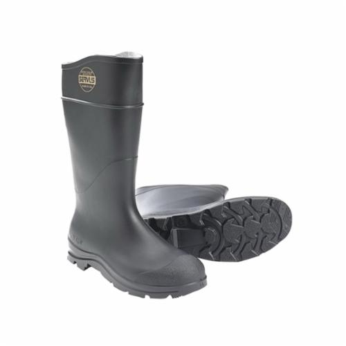 Servus® by Honeywell 18802-BLM-110 Safety Footwear, Men's, SZ 11, 15 in H, Plain Toe, PVC Upper, PVC Outsole, Resists: Abrasion, Chemical, Impact, Slip, Splash and Water, ASTM F2413-11 M I/75 C/75, ANSI Z41-1991, CAN/CSA Z195-09, OSHA 1910.136