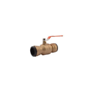 Sharkbite® SBBV41 2XL Ball Valve, 1-1/2 in Nominal, Push-Fit End Style, Lead Free DZR Brass Body