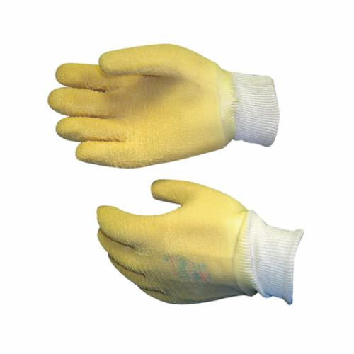 Showa Best® 558-11 Chemical-Resistant Gloves, 2XL/SZ 11, Natural Rubber Latex, Black/Red, Unlined Lining, 18 in L, Resists: Abrasion, Chemical and Oil, Unsupported Support, Pinked/Rolled Cuff, 40 mil THK