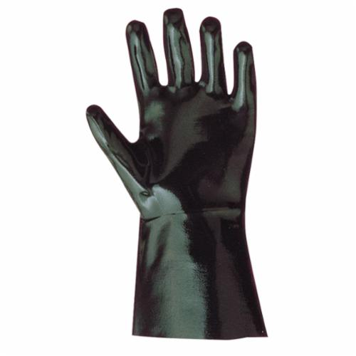 Showa Best® Defensive Guard™ 6780-20-10 Rugged Chemical-Resistant Gloves, L/SZ 10, Neoprene, Black, Cotton Flannel Lining, 32 in L, Resists: Acid, Abrasion, Caustic, Cut, Oil, Greases and Many Solvent, Gauntlet Cuff, 15 mil THK