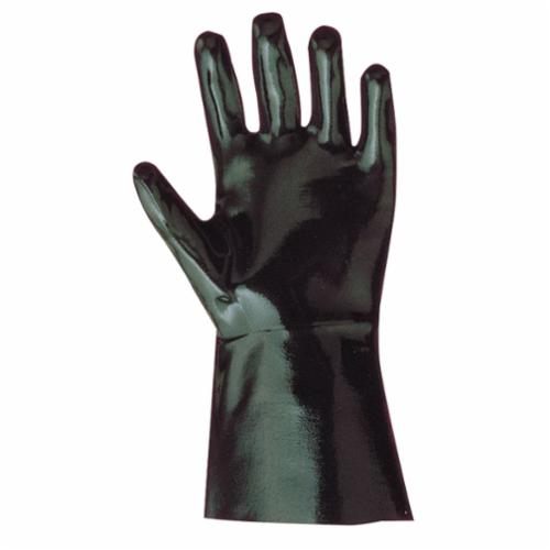 Showa Best® 6784R-10 Heavy Duty Heavyweight Sanitized Chemical-Resistant Gloves, L/SZ 10, Neoprene, Black, Cotton Lining, 14 in L, Resists: Acid, Abrasion, Caustic, Cut, Oil, Greases and Many Solvent, Gauntlet Cuff, 15 mil THK