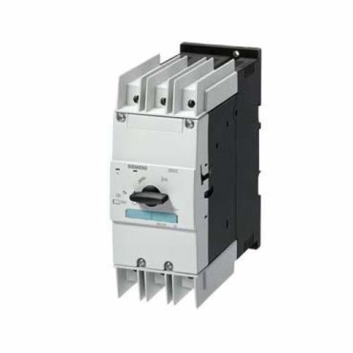 Siemens 3RV1021-1GA10 Motor Protection Circuit Breaker, 690 VAC/VDC, 6.3 A, 100 kA Interrupt, 3 Poles, Thermal/Magnetic Trip
