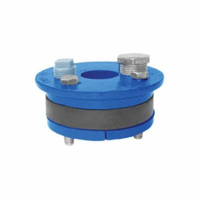 Simmons 021 Single Hole Well Seal, 6 in Well ID, 3/4 in THK, Solid Top Plate Head, Cast Iron Primary Ring, 50 Durometer Molded Rubber Mating Ring