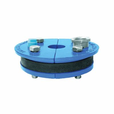 Simmons 138 Single Hole Well Seal, 6 in Well ID, 3/4 in THK, Split Top Plate Head, Cast Iron Primary Ring, 50 Durometer Molded Rubber Mating Ring