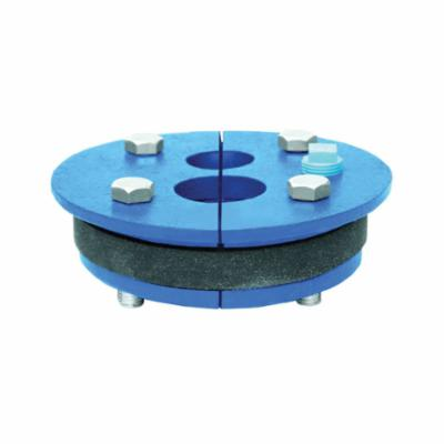 Simmons 152 Double Hole Well Seal, 4 in Well ID, 3/4 in THK, Split Top Plate Head, Cast Iron Primary Ring, 50 Durometer Molded Rubber Mating Ring