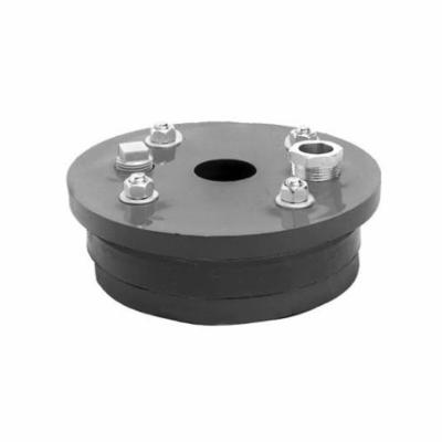 Simmons 1951 Single Hole Well Seal, 6-1/4 in Well ID, 3/4 in THK, Solid Top Plate Head, ABS Primary Ring, 50 Durometer Molded Rubber Mating Ring