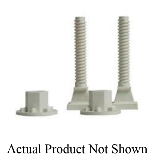 Tomahawk PlumbPerfect™ 427-PB Closet Bolt, 3-1/2 in x 1-15/16 to 2-15/16 in L Thread, 2-1/2 to 3-1/2 in OAL, Brass, Domestic