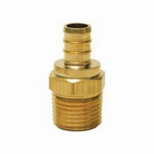 Tomahawk 646XG3 1-Piece Straight Adapter, 3/4 in, F1807 PEX Crimp™ x MNPT, Brass, Domestic