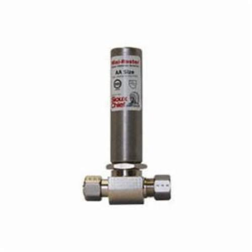 Tomahawk MiniRester™ 660-GTR Water Hammer Arrester, 5/8 in, Compression x Female Compression, 350 psig, 1 to 4 Fixture Unit Capacity, Domestic
