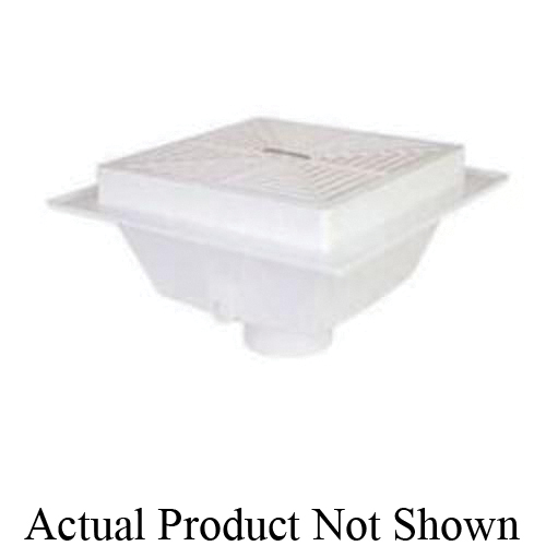 Tomahawk SquareMax™ 861-3PU2 Floor Sink, 3 in Drain Opening, 8-5/16 in H, Squared Shape, PVC