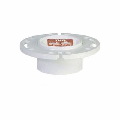 Tomahawk TKO™ 883-PT 1-Piece Knockout Closet Flange With Plastic Ring, PVC, Domestic