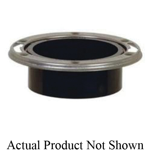 Tomahawk TKO™ 886-4AM Open Closet Flange With Stainless Steel Swivel Ring, 4 in Hub Pipe, ABS, Domestic