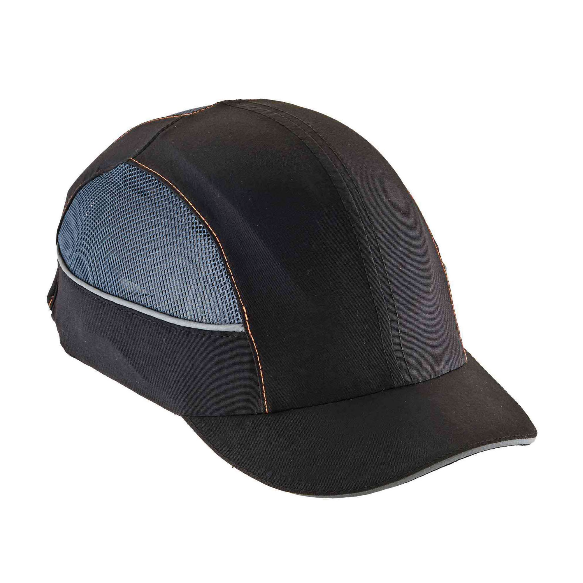 Skullerz® 23349 8950XL Impact Resistant Long Brim Machine Washable Bump Cap, Navy, Nylon, Specifications Met: EN 812