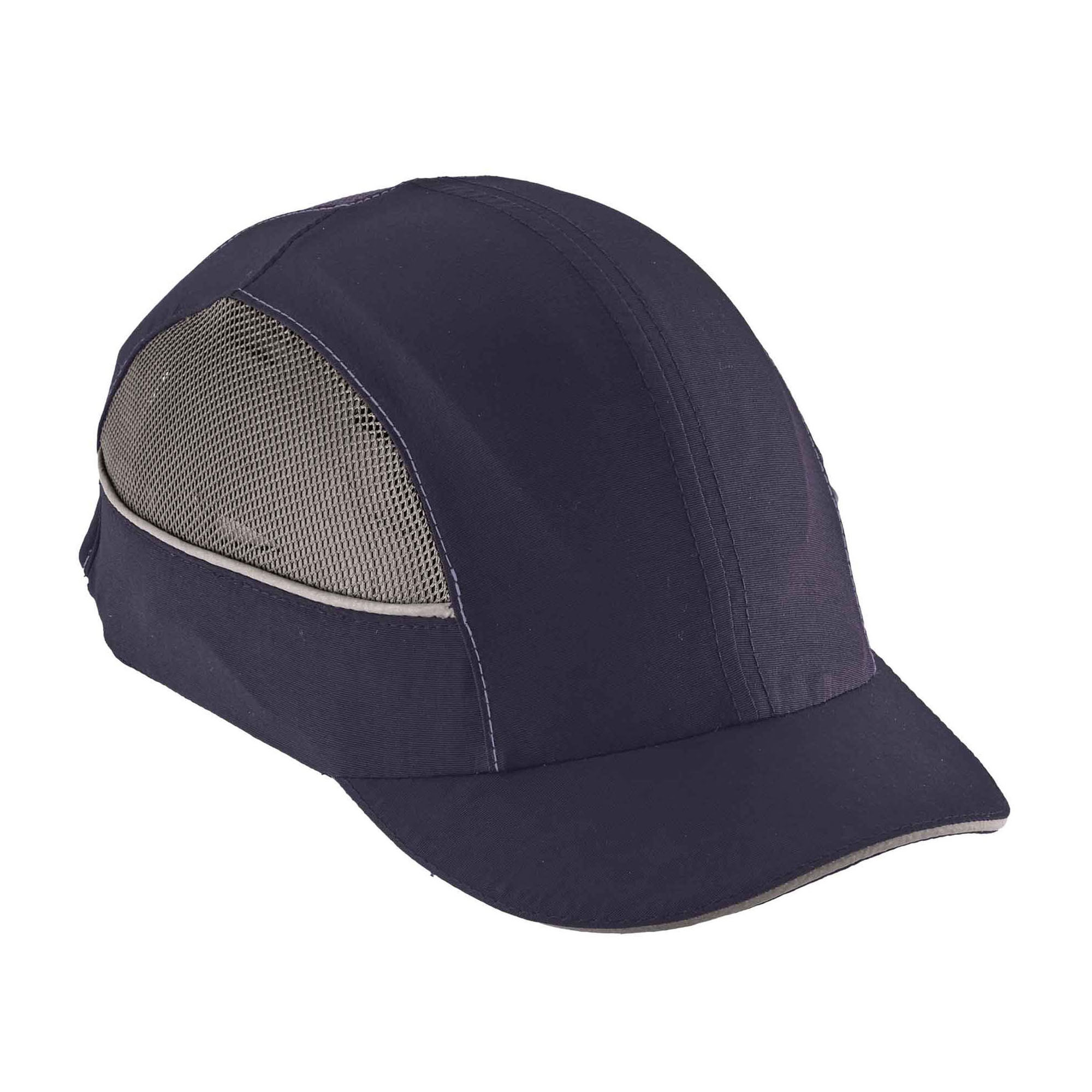 Skullerz® 23349 8950XL Impact Resistant Long Brim Machine Washable Bump Cap, Navy, Nylon, Specifications Met: EN 812