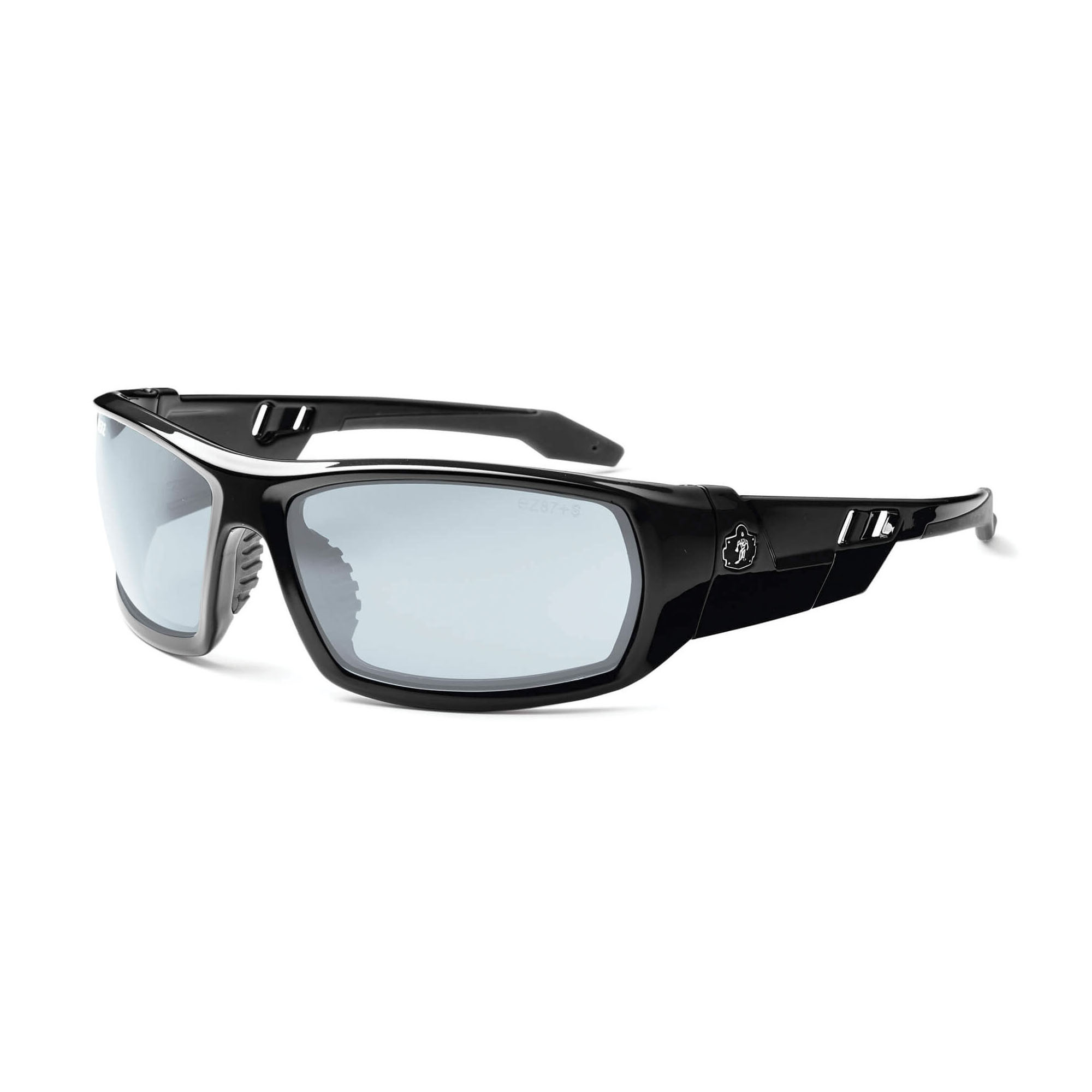 Skullerz® 50033 ODIN-AF Safety Glasses, Anti-Scratch, Smoke Lens, Full Framed Frame, Black, ANSI Z87.1+, CSA Z94.3, MIL-PRF 32432