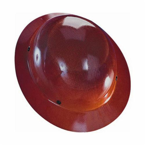 Skullgard® 454668 Full Brim Hard Hat, 6-1/2 in Fits Mini Hat, 8 in Fits Max Hat, Phenolic, 4-Point Staz-On® Suspension, ANSI Electrical Class Rating: Class G, ANSI Impact Rating: Type 1, Pin Lock Adjustment