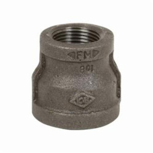 Smith-Cooper® 33RC1014012C Pipe Reducing Coupling, 1-1/2 x 1-1/4 in Nominal, FNPT End Style, 150 lb, Malleable Iron, Black