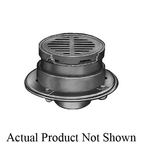 Smith® 2320Y02 (-NB) Medium Duty Floor Drain, 2 in Outlet, No Hub Bottom Connection, 8 in, Cast Iron Drain