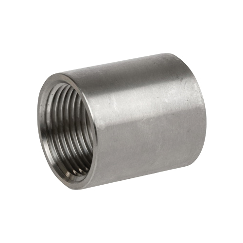 Smith-Cooper® S3114CP004 S3014CP Full Coupling, 1/2 in Nominal, FNPT End Style, 150 lb, 304 Stainless Steel