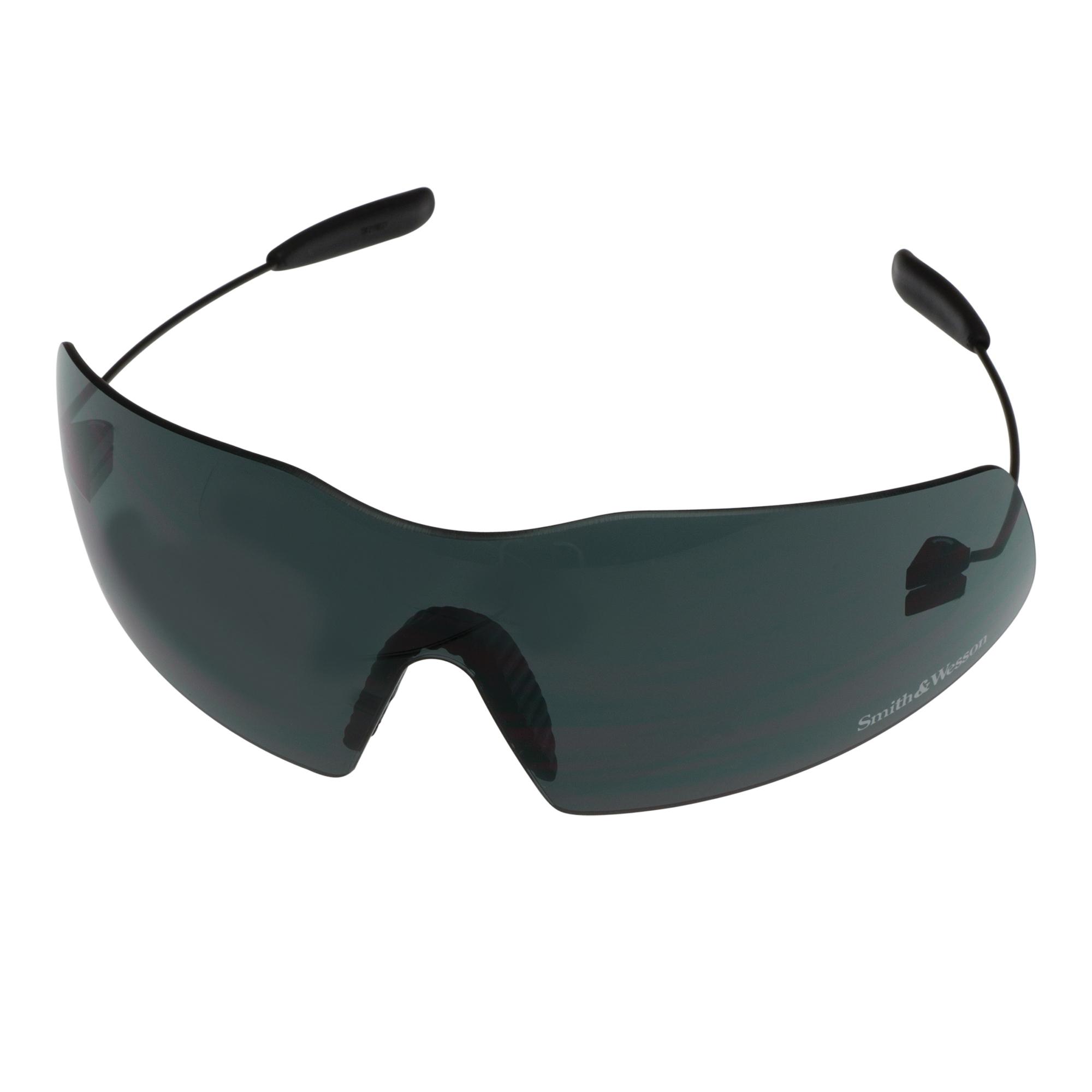 Smith & Wesson® 19838 Phantom Safety Glasses, Anti-Fog, Clear Lens, Frameless Frame, Pewter, Nylon Frame, Polycarbonate Lens, ANSI Z87.1+2010