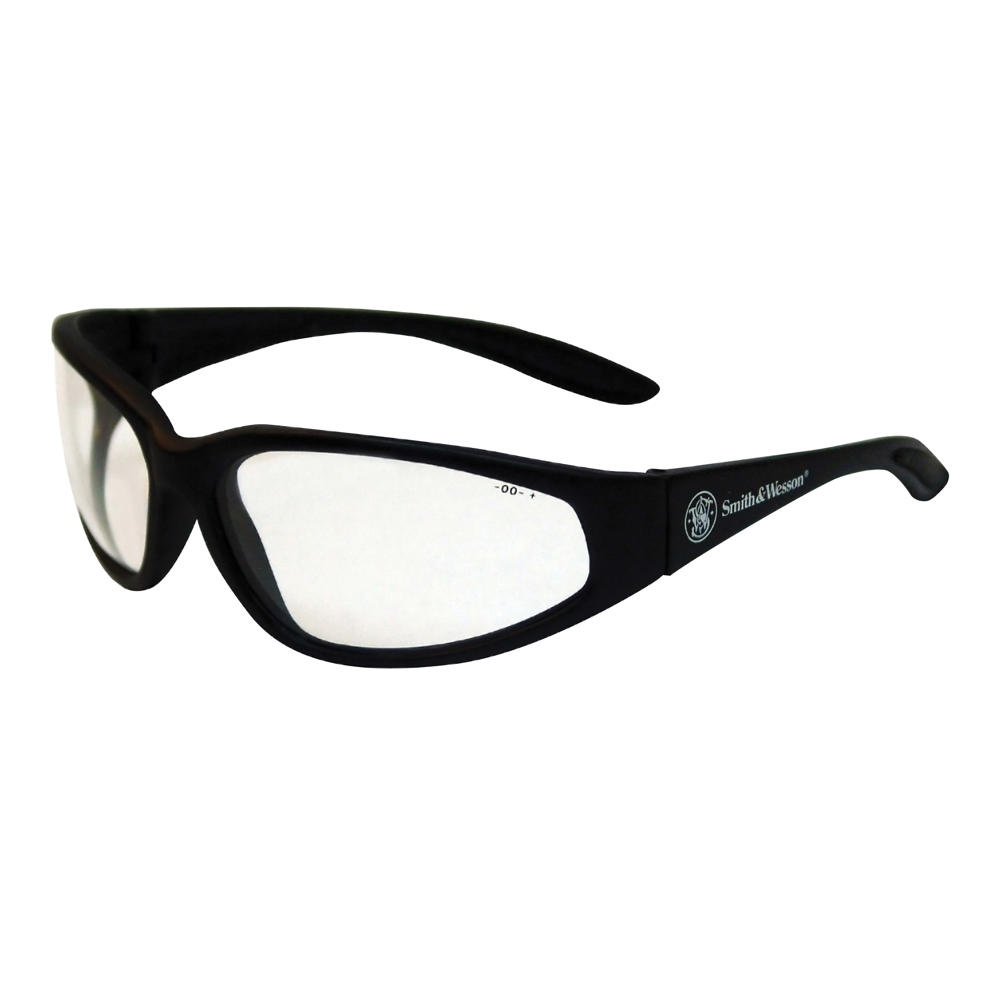 Kimberly Clark* Smith & Wesson® 19853 Phantom Safety Glasses, Anti-Scratch, Smoke Lens, Frameless Frame, Black, Metal Frame, Polycarbonate Lens, ANSI Z87.1+2010