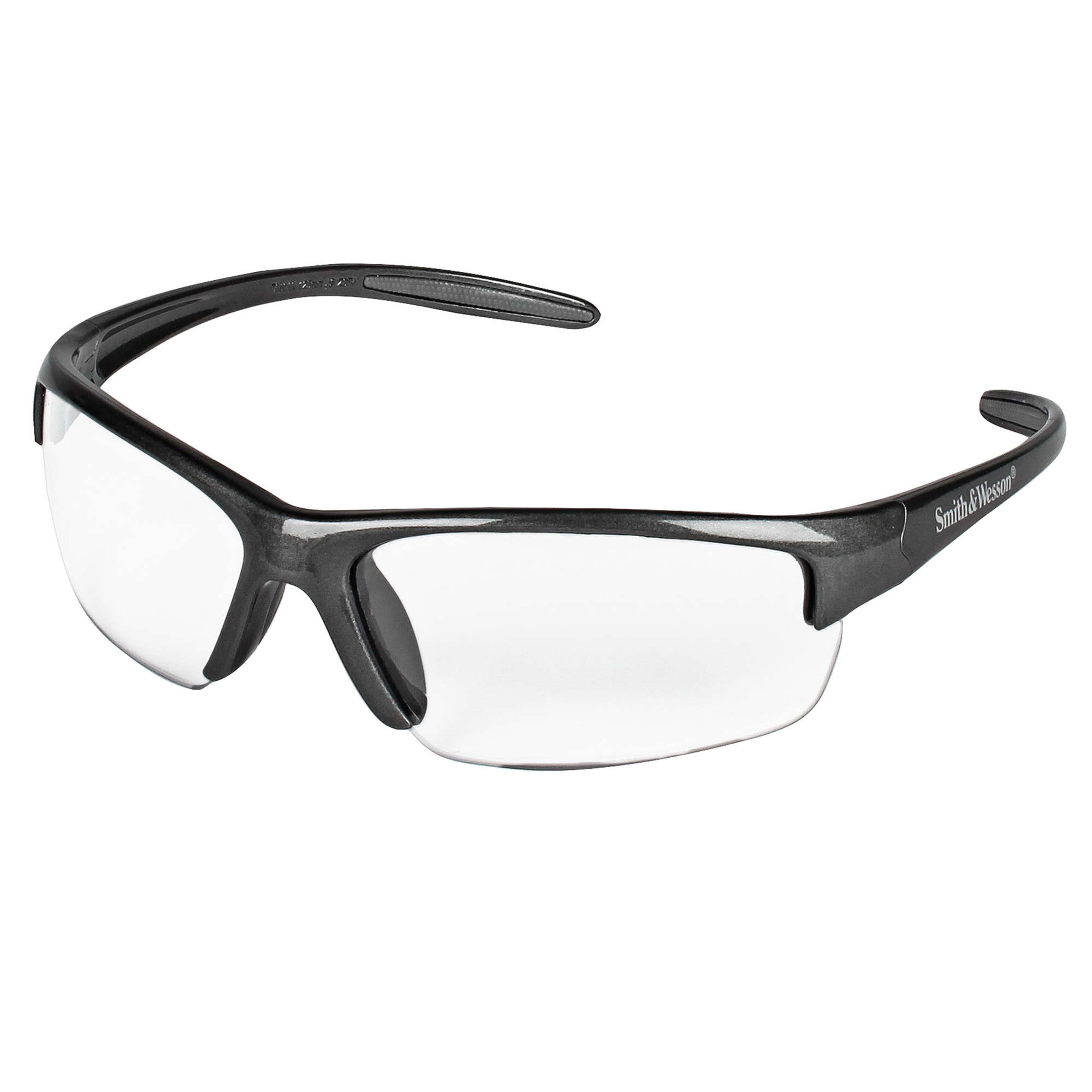 Kimberly Clark* Smith & Wesson® 20337 Magnum® 3G Mini Safety Glasses, Hard Coated, Gold Mirror Lens, Wrap Around Frame, Black, Polycarbonate Lens, ANSI Z87.1+2010, TAA Compliant