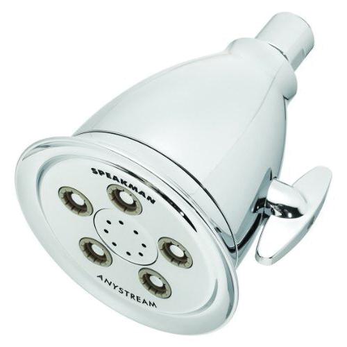 Speakman® S-2005-HB-E2 Multi-Function Shower Head, Hotel™, 2 gpm Minimum, 3 Sprays, Wall Mount, 4-1/8 in Head, Import