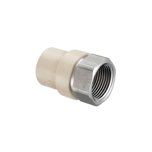 Spears® EverTUFF® 4135-005SS Female Adapter, 1/2 in, Socket x FNPT, CPVC, Domestic