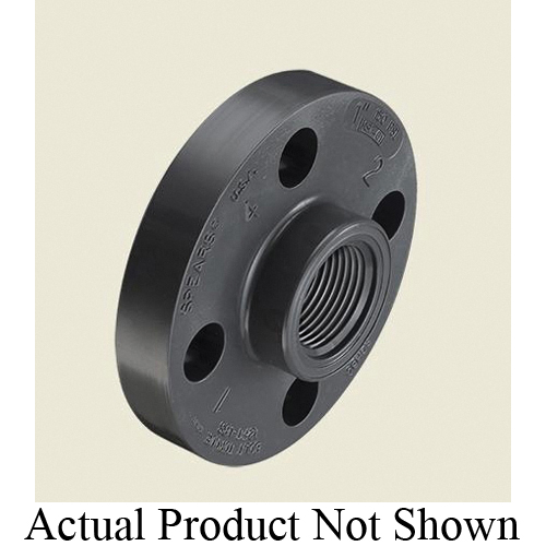 Spears® 852-005 1-Piece Flange, 1/2 in Nominal, PVC, FNPT Connection, 150 lb, 3-1/2 in OD, Domestic