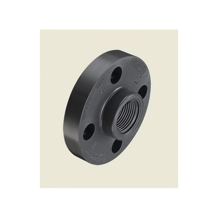 Spears® 852-010 1-Piece Flange, 1 in Nominal, PVC, FNPT Connection, 150 lb, 4-1/4 in OD, Domestic