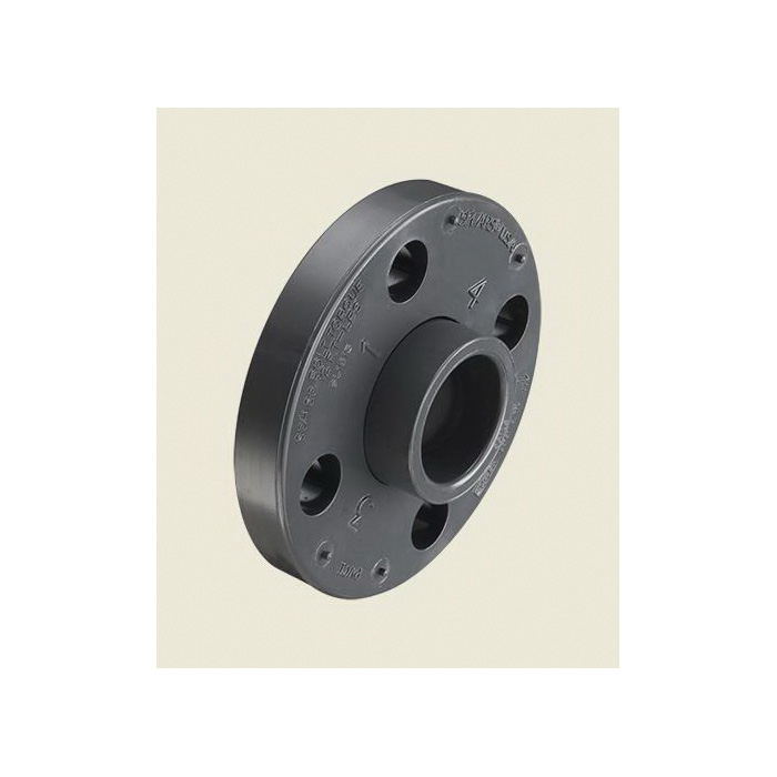 Spears® 854-010 2-Piece Van Stone Molded Flange With PVC Ring, 1 in, PVC, Socket, 150 lb, 4-1/4 in OD, Domestic