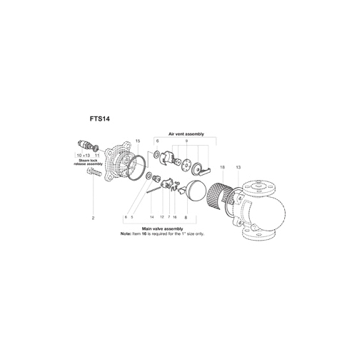 Spirax Sarco 1440081 Cover Gasket, For Use With: Model FT-14/14C/IFT-14 1/2 and 3/4 in NPT Float and Thermostatic Steam Trap, Nickel Reinforced Exfoliated Graphite