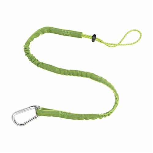 Squids® 19012 3100 Extended Tool Lanyard, 10 lb Load Capacity, 42 to 54 in L, Nylon Web Line, 1 Legs, Carabineer Anchorage Connection, Choke-Off Loop Harness Connection Hook