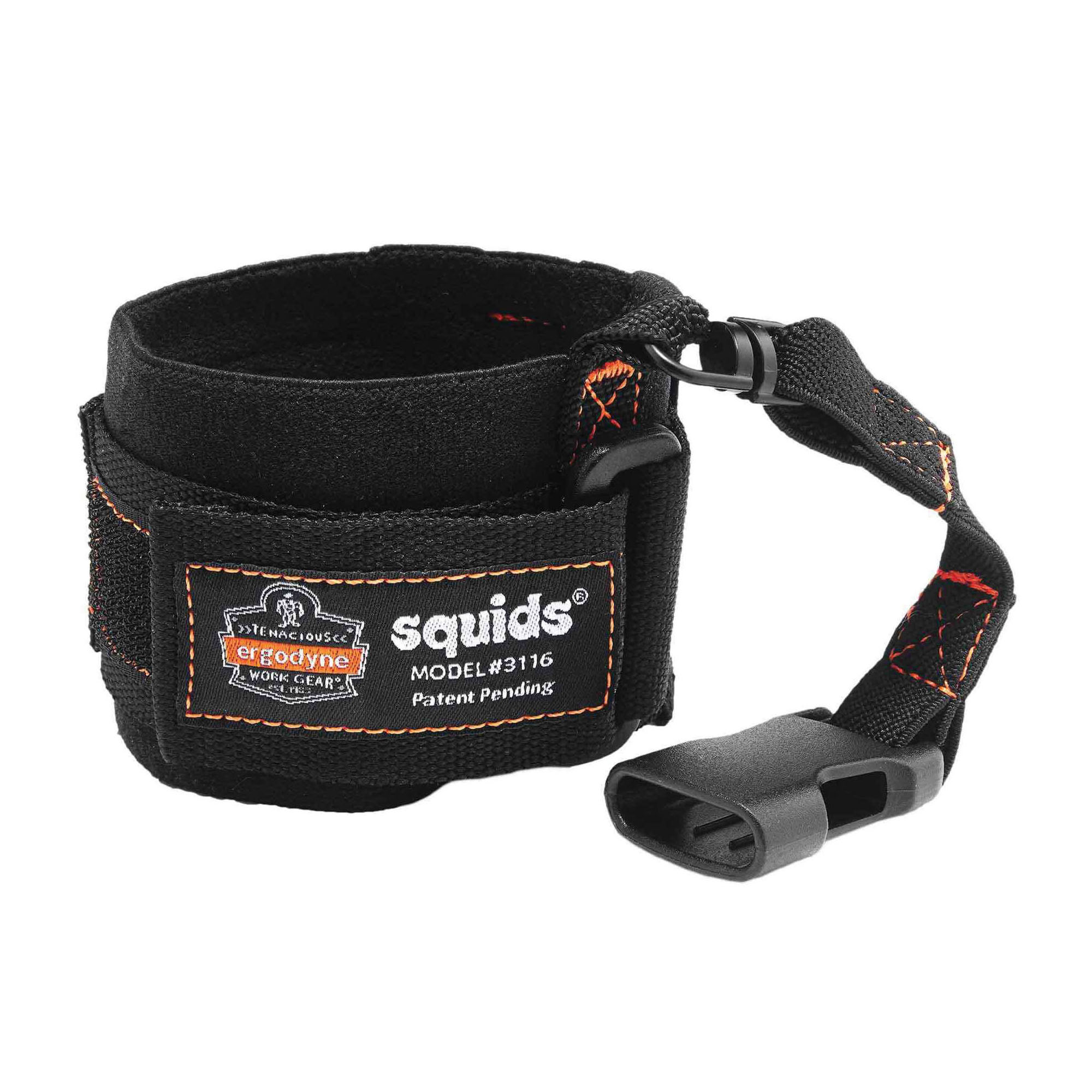 Squids® 19052 3115 Wrist Tool Lanyard, 2 lb Load Capacity, 7-1/2 in L, Polyester Webbing Line, 1 Legs, Choke-Off Loop Harness Connection Hook, Specifications Met: ANSI/ISEA 121-2018