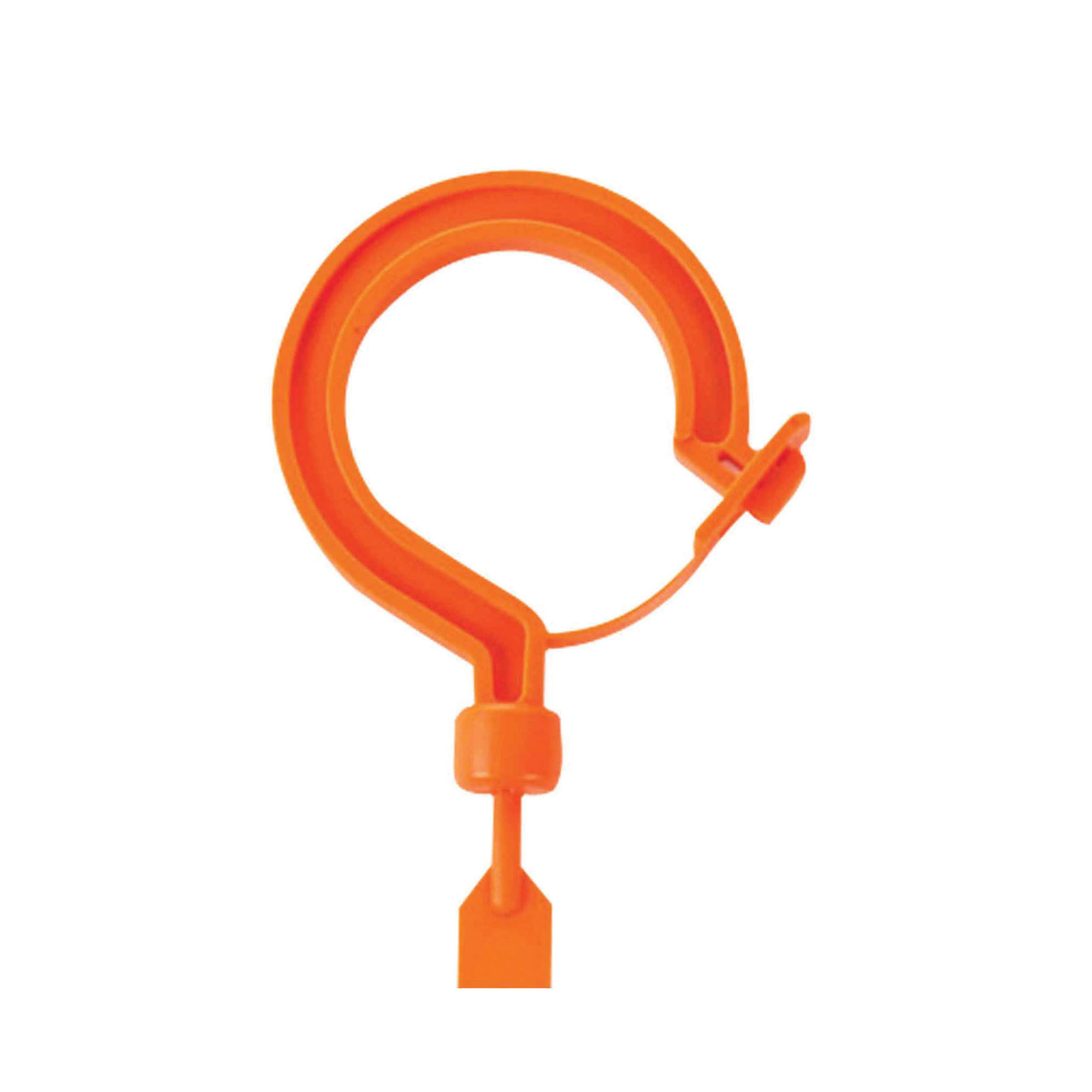 Squids® 33402 3540S Tie Hook, 11.8 in L, Large Locking Hook, 44 lb Load, Nylon 6.6, Hi-Viz Orange