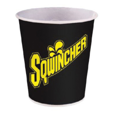 Sqwincher® 200101 Wrapped Disposable Cold Cup, 12 oz Capacity, Paper, White
