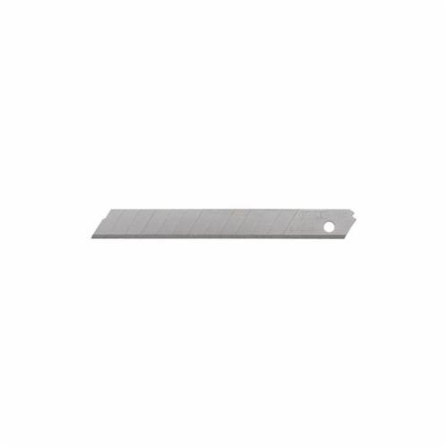 Stanley® 11-041 Utility Replacement Blade, Sharp Point/Straight Edge, 2-9/16 in L x 1/2 in W, Compatible With 10-049 Utility Knife, 0.04 in THK, Stainless Steel