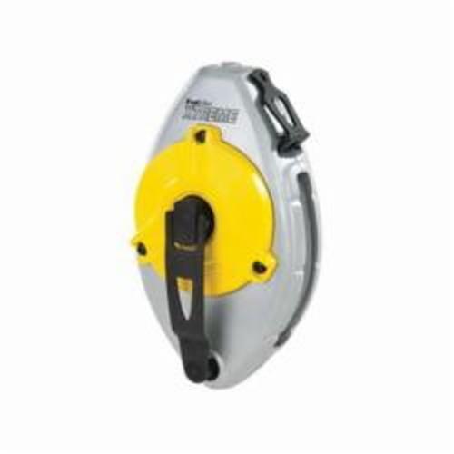 Irwin® Strait-Line® 2031314DS MACH6™ Heavy Duty High Speed Refillable Chalk Line Reel, 100 ft L Nylon/Polyester Line, 2 oz Chalk, EZ Access Door, Retractable Self-Locking Handle