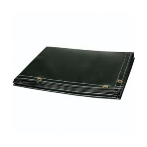 Steiner® ArcView™ 325-6X8 Flame Retardant Welding Curtain, 8 ft L x 6 ft W, 14 mil THK, Tinted Transparent Vinyl, Blue