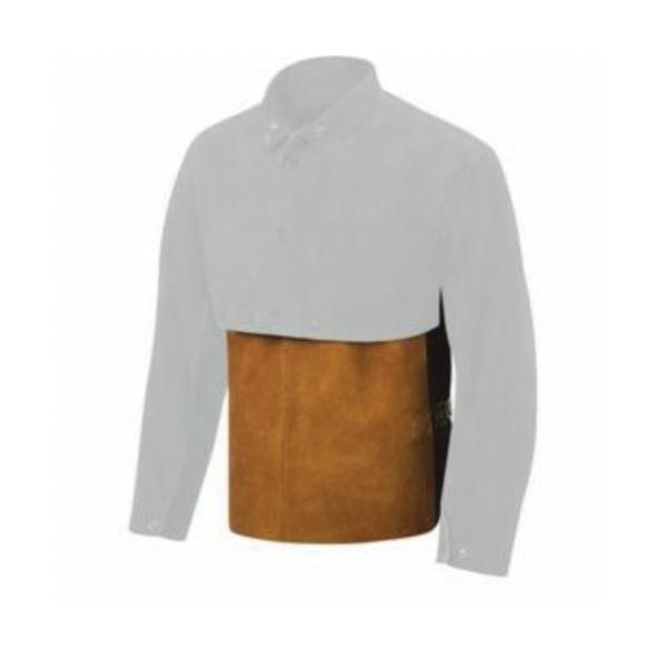 Steiner® 9210-4X Welding Cape Sleeves, 4XL, Brown, Premium Side Split Cowhide Leather/Kevlar® Stitching, Snap Front/Cuff Closure