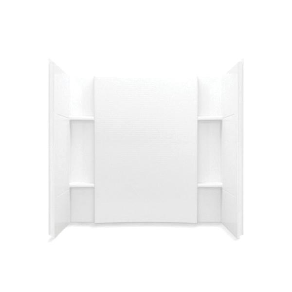 Sterling® 71154100-0 Tile Look Bath/Shower Wall Set, Accord®, 60 in L x 32 in W x 55-1/4 in H, Solid Vikrell®